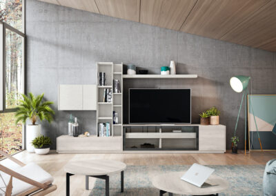 Muebles de salón únicos de estilo minimalista y moderno