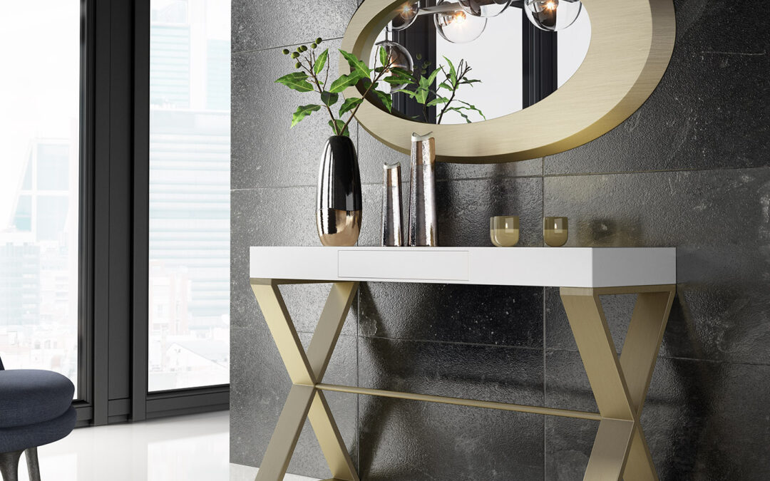 Muebles consola para recibidores con encanto